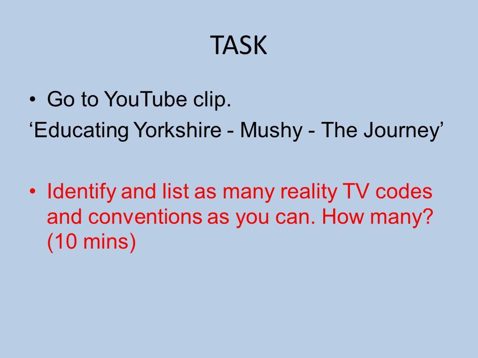 TASK Go to YouTube clip.