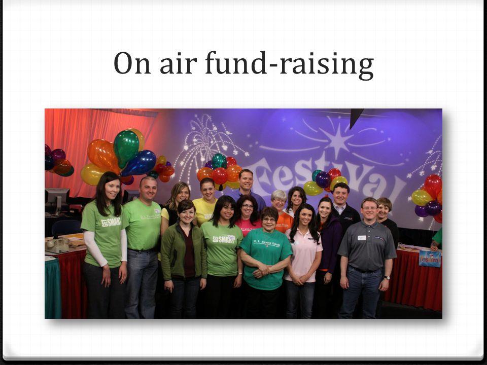 On air fund-raising