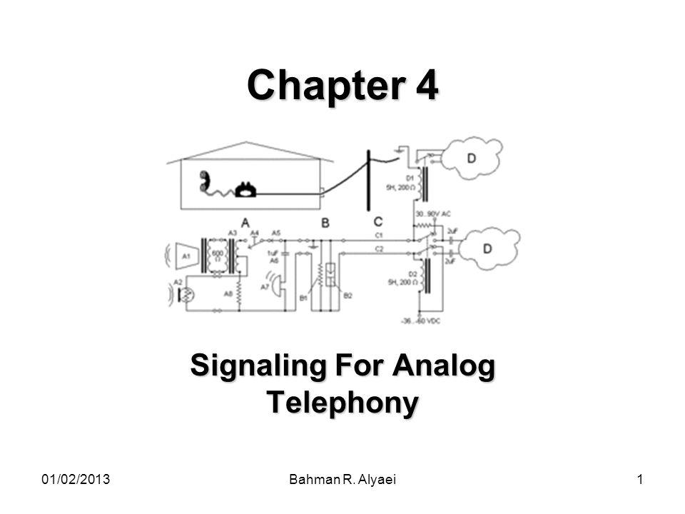 01/02/2013Bahman R. Alyaei32 Continue… An inter-exchange call signaling diagram