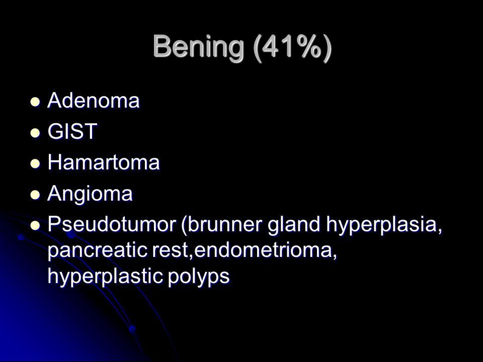 clasification Adenoca %35-50, proximal Adenoca %35-50, proximal Carcinoid TM %20-40 apendix, ileum Carcinoid TM %20-40 apendix, ileum Lymphoma %14 Lym