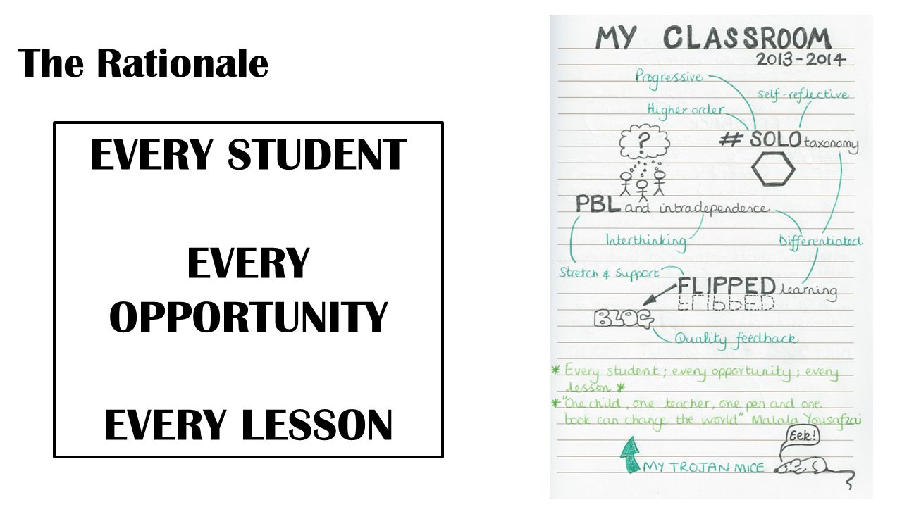The Rationale EVERY STUDENT EVERY OPPORTUNITY EVERY LESSON