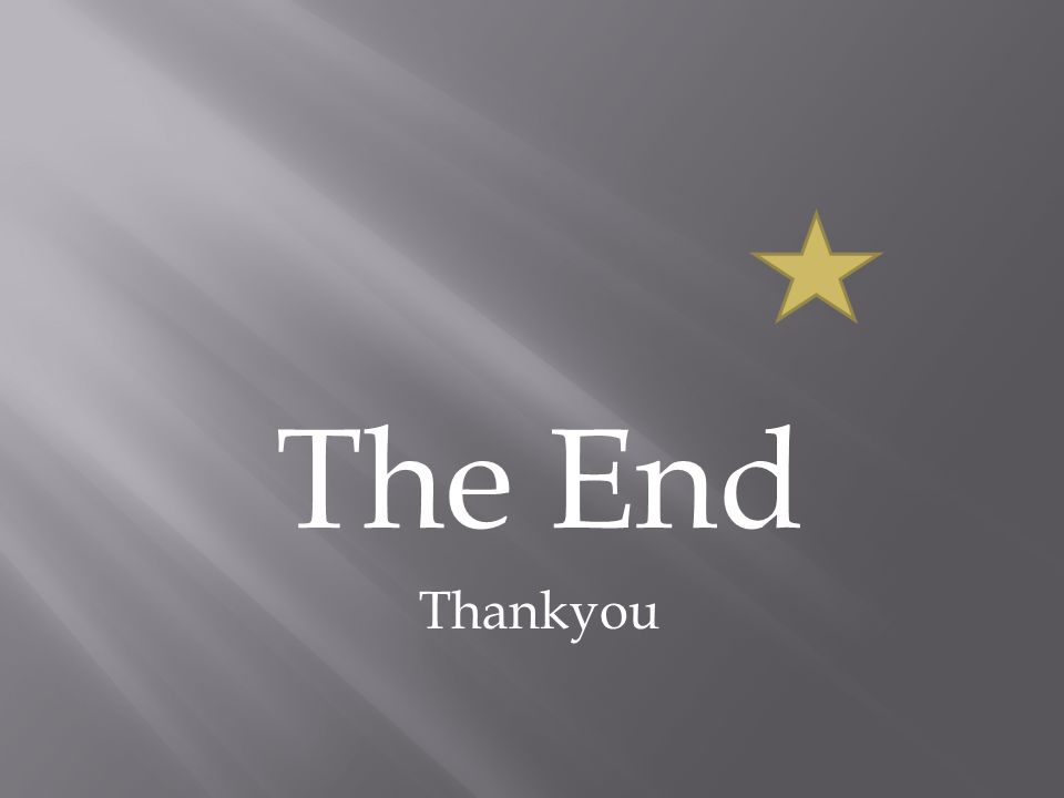 The End Thankyou