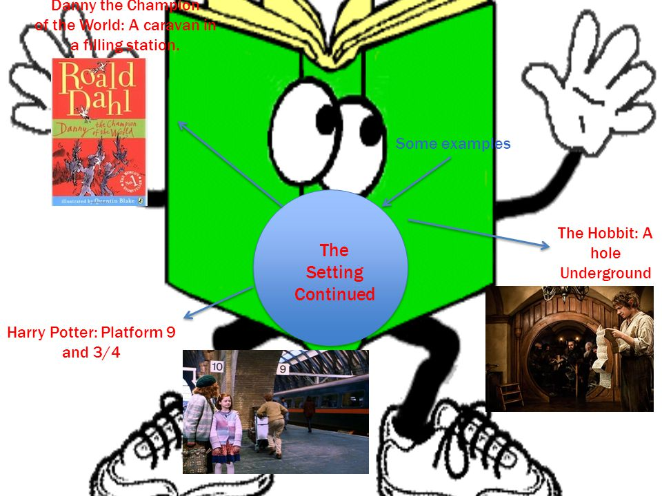 The Setting Continued Some examples The Hobbit: A hole Underground Harry Potter: Platform 9 and 3/4 Danny the Champion of the World: A caravan in a filling station.