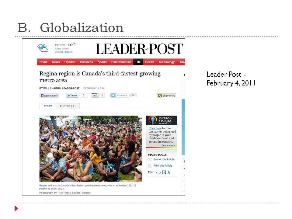 B. Globalization Leader Post - February 4, 2011