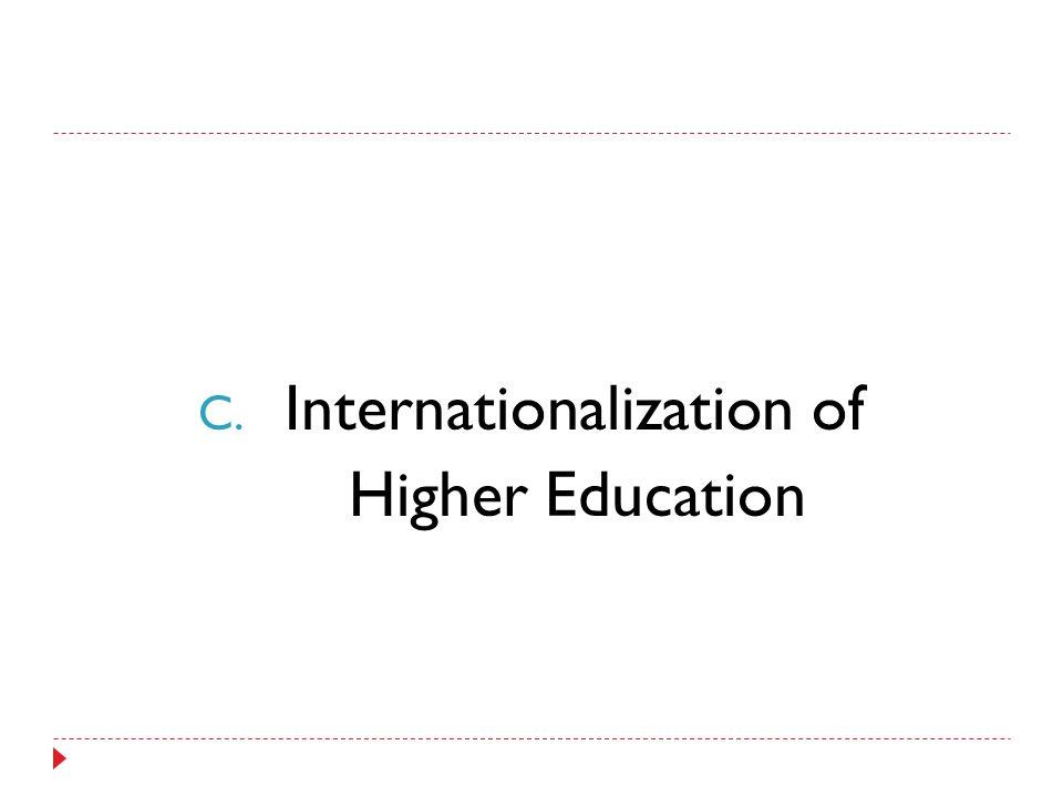 C. Internationalization of Higher Education