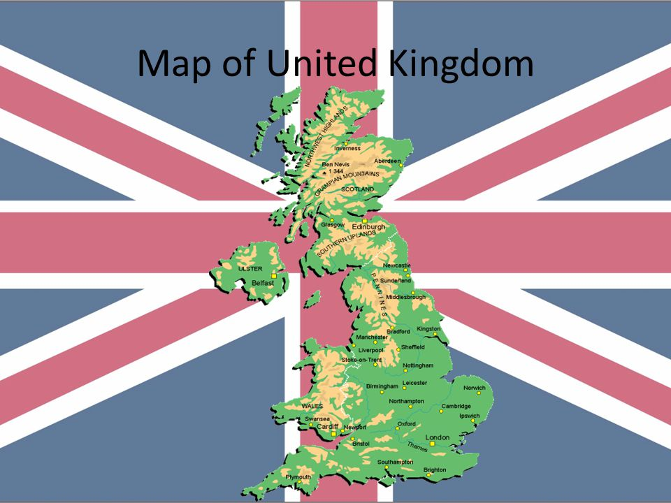Map Of Europe Showing the U.K