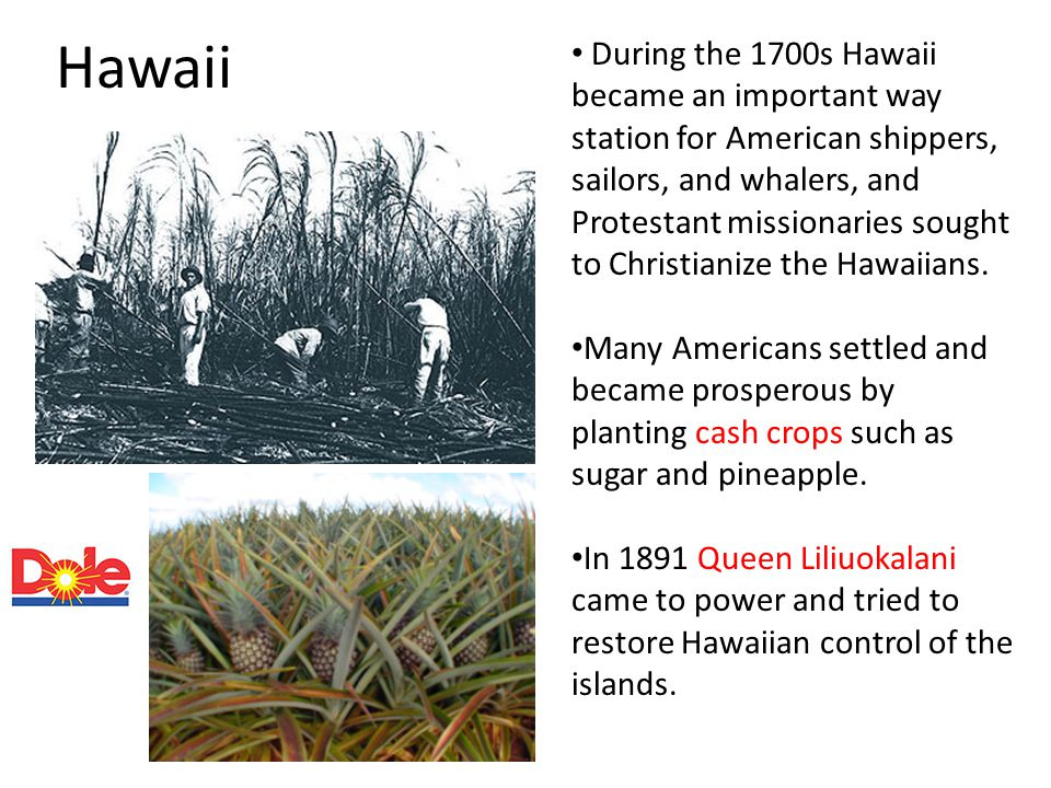 Hawaii During the 1700s Hawaii became an important way station for American shippers, sailors, and whalers, and Protestant missionaries sought to Chri