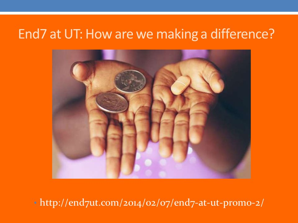 End7 at UT: How are we making a difference? http://end7ut.com/2014/02/07/end7-at-ut-promo-2/