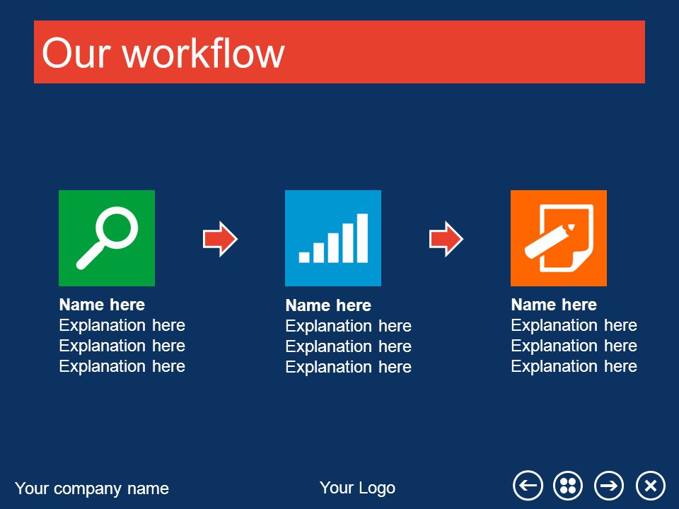 Your company name Your Logo Additional workflow Name here Explanation here
