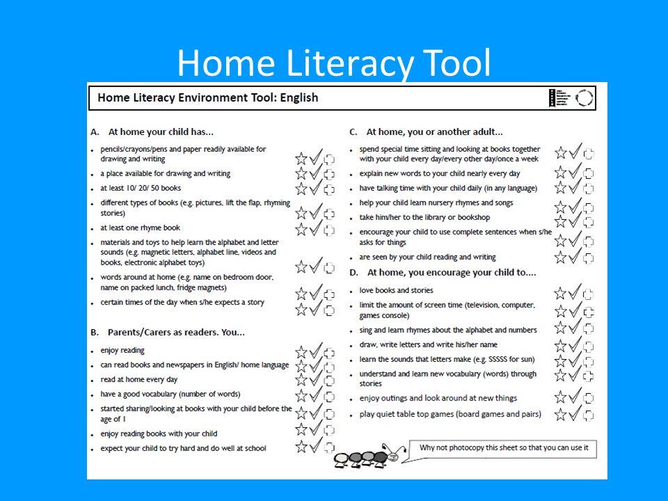 Home Literacy Tool