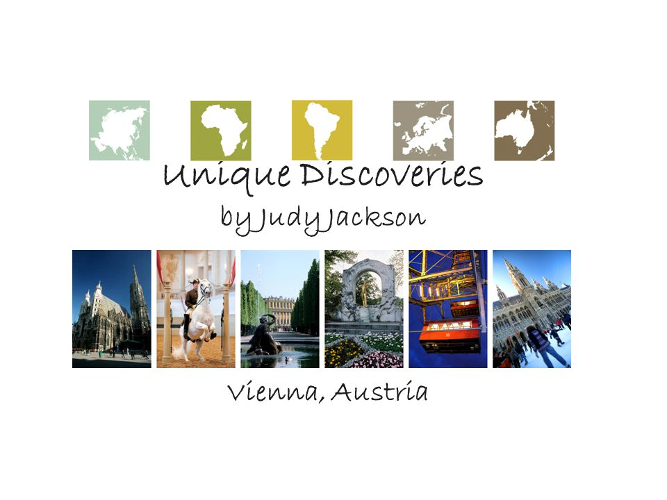 Unique Discoveries by Judy Jackson Vienna, Austria