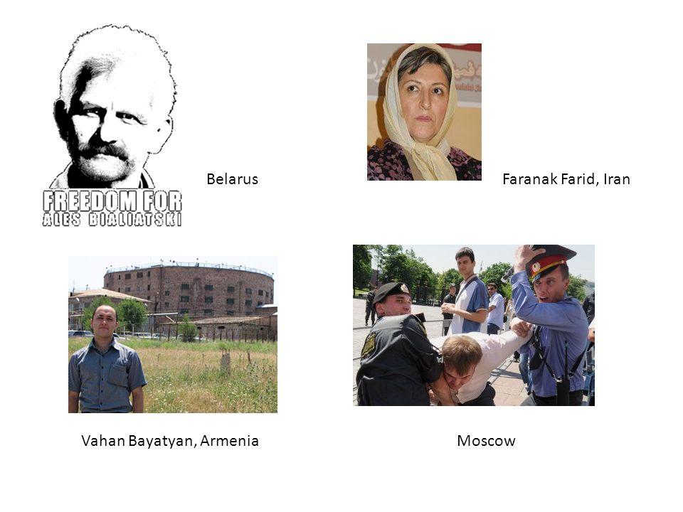 Vahan Bayatyan, Armenia Faranak Farid, IranBelarus Moscow