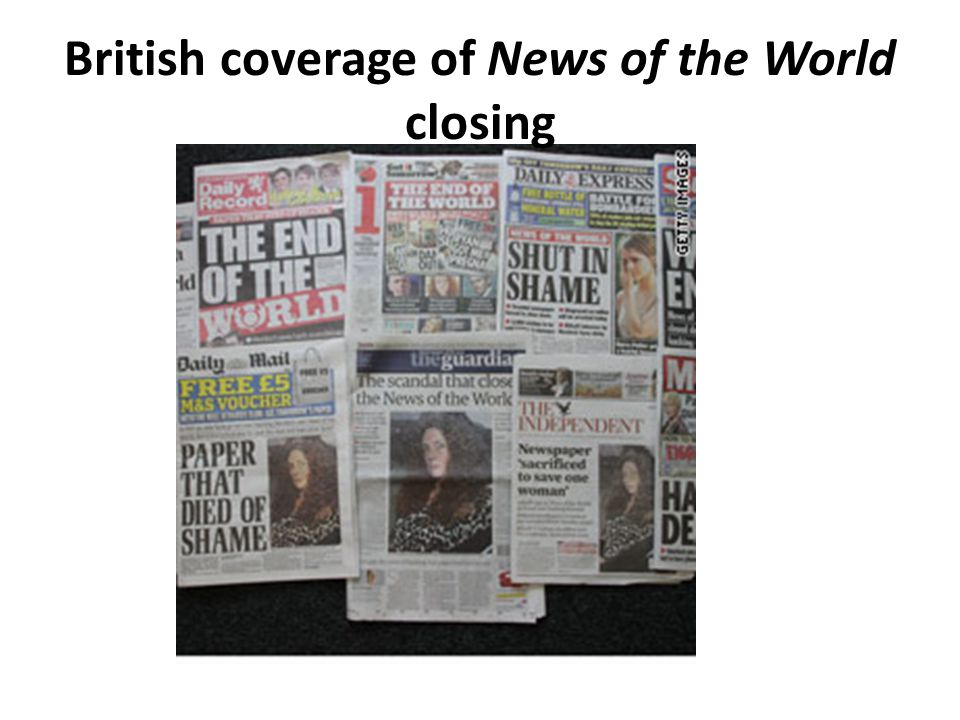 British coverage of News of the World closing