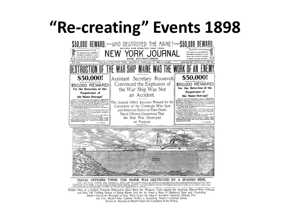 Re-creating Events 1898