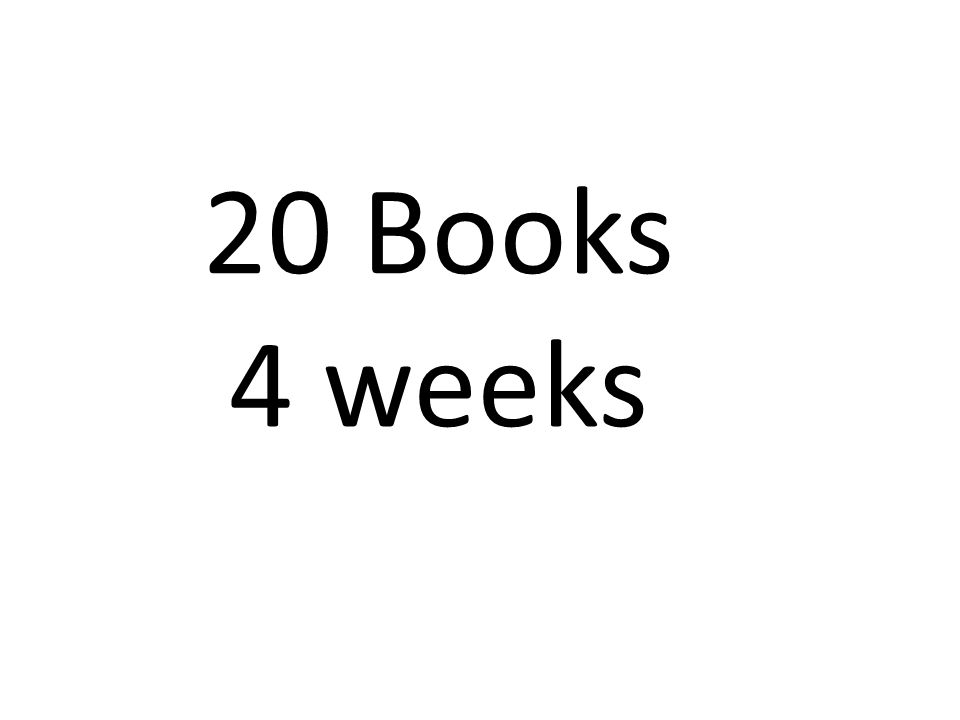 20 Books 4 weeks