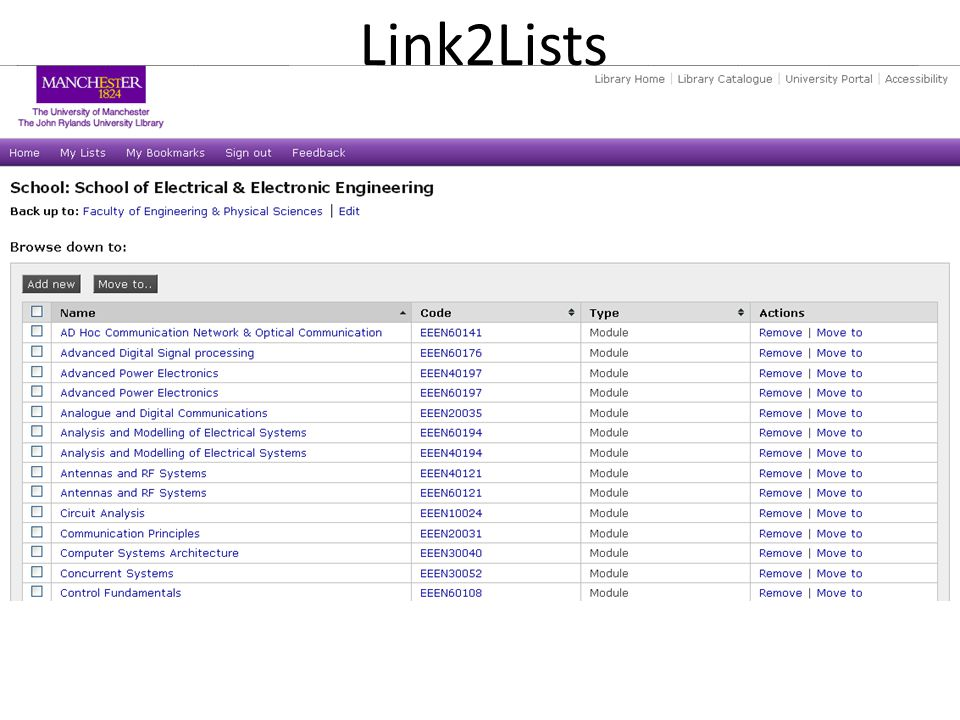 Link2Lists