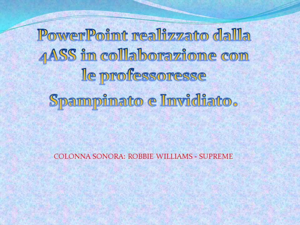 COLONNA SONORA: ROBBIE WILLIAMS - SUPREME