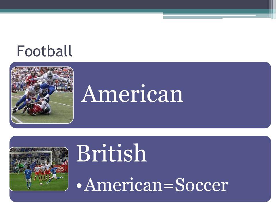 Football American British American=Soccer