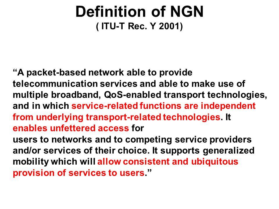 Definition of NGN ( ITU-T Rec.