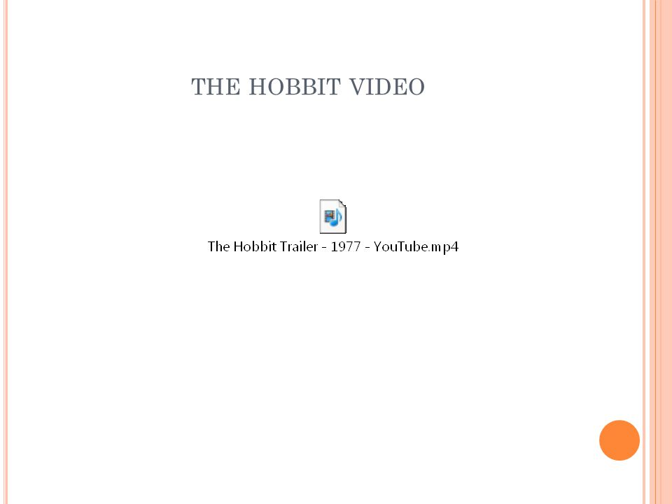 THE HOBBIT VIDEO
