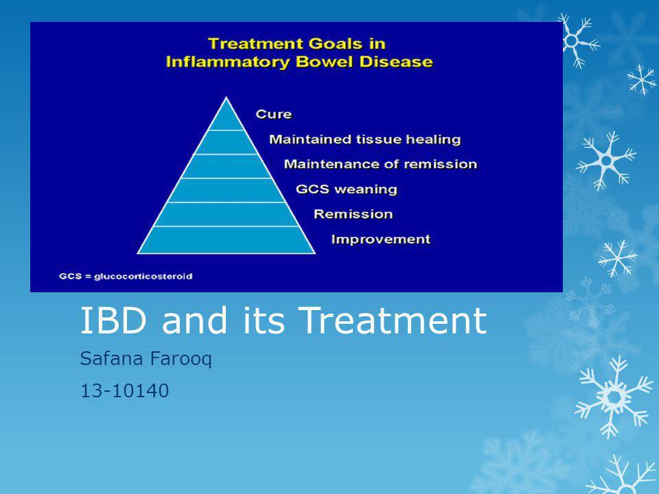 IBD and its Treatment Safana Farooq 13-10140