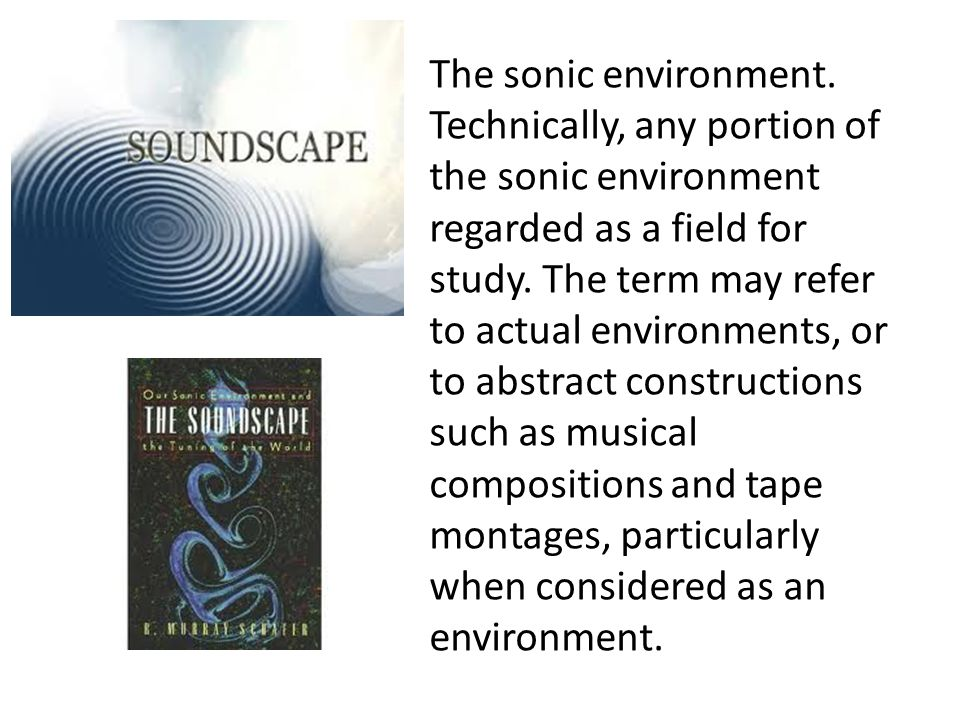 The sonic environment.