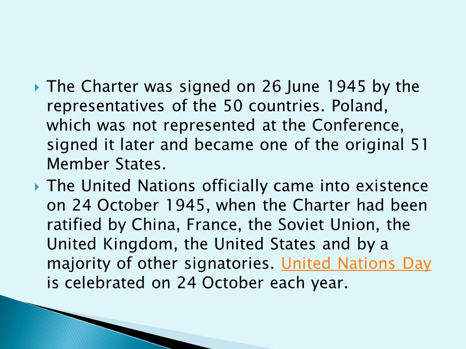  History of the United Nations Charter  The United Nations Charter is the treaty that established the United Nations.