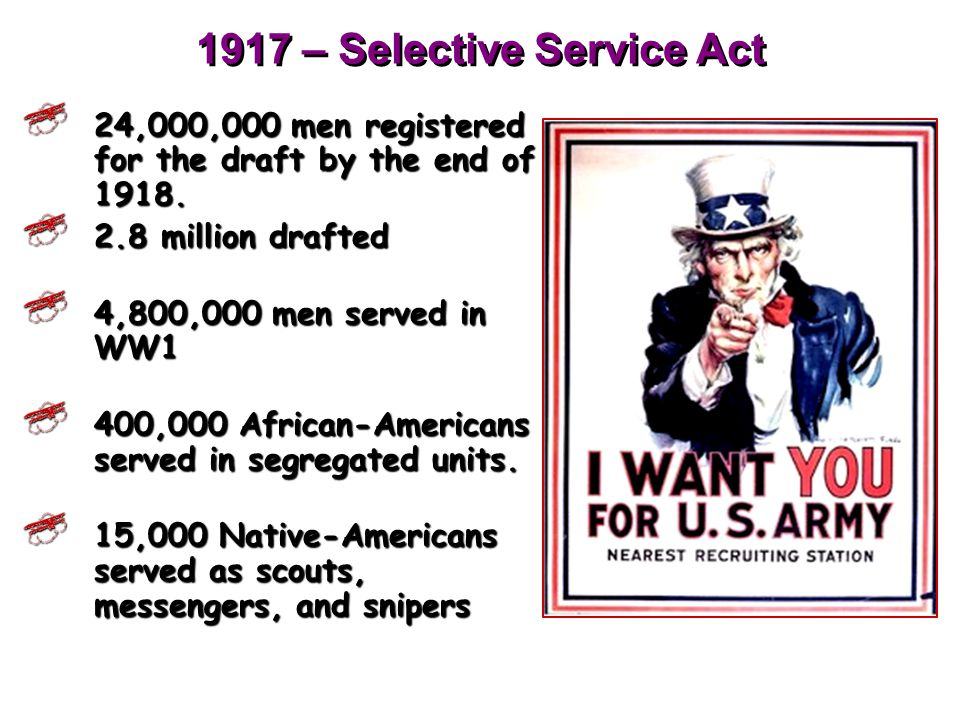Building Up The Military As the U.S. entered the war, it was necessary to recruit more soldiers. Many progressives thought conscription, or forced mil