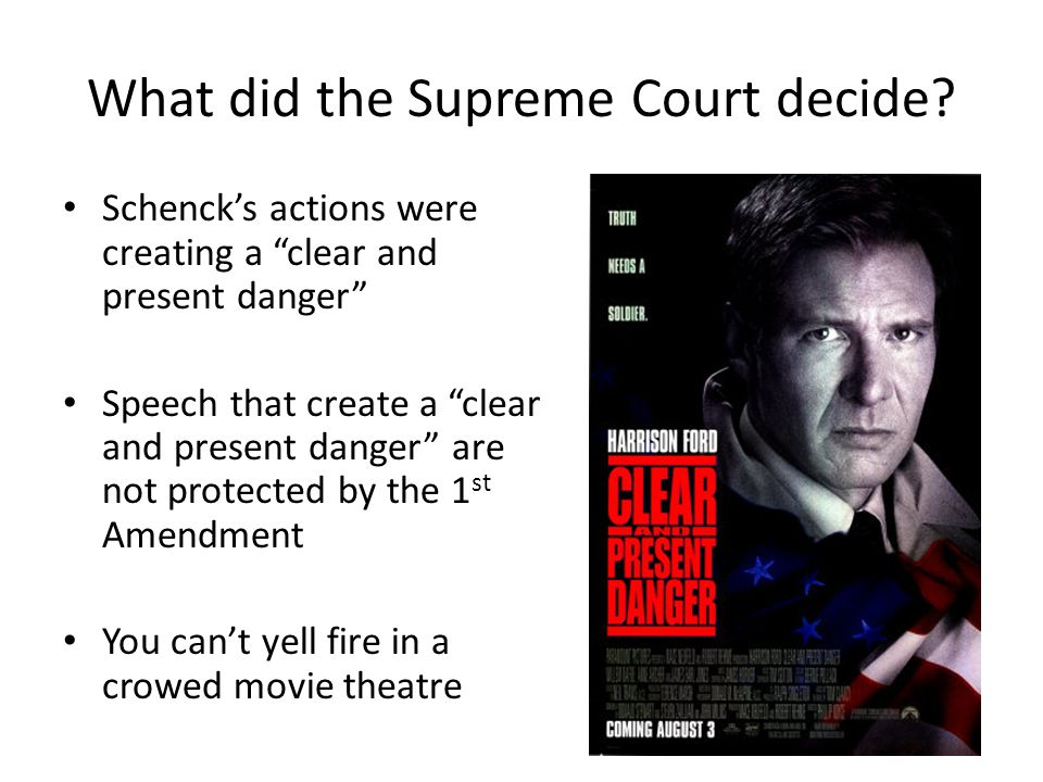 Was the Espionage and Sedition Acts Constitutional? Supreme Court Case Schenck v. US Background Charles Schenck Socialist Arrested for mailing thousan