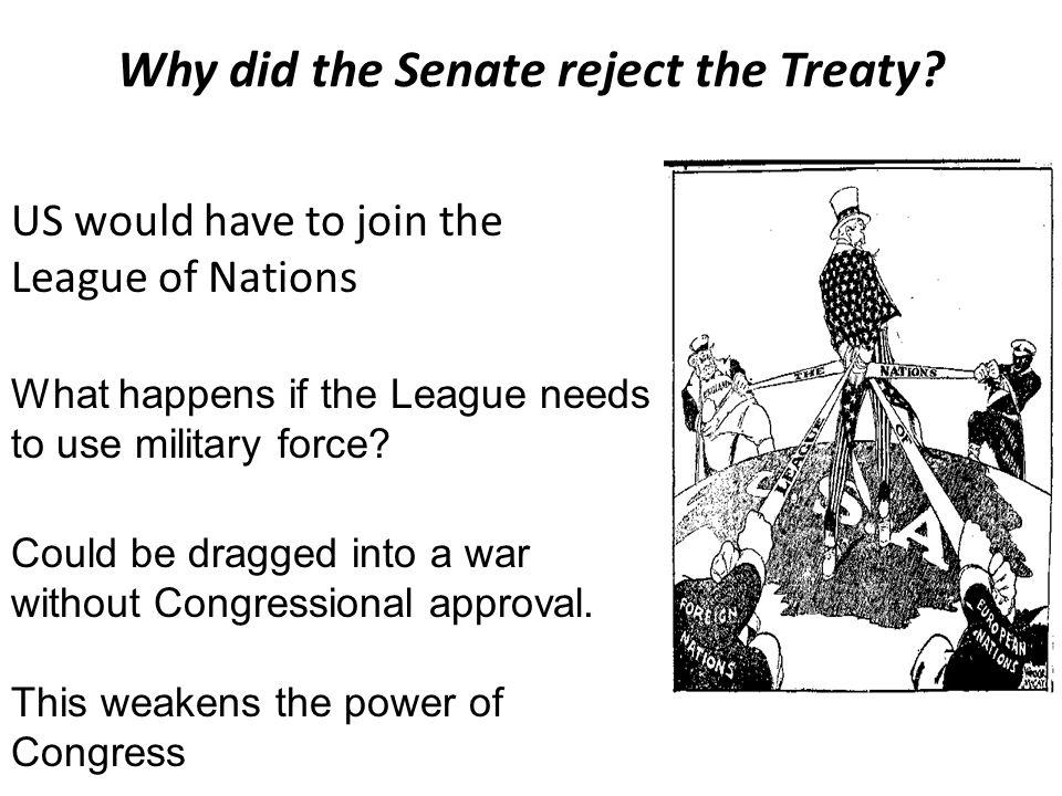 The President makes Treaties The Senate ratifies Treaties An example of Checks and Balances