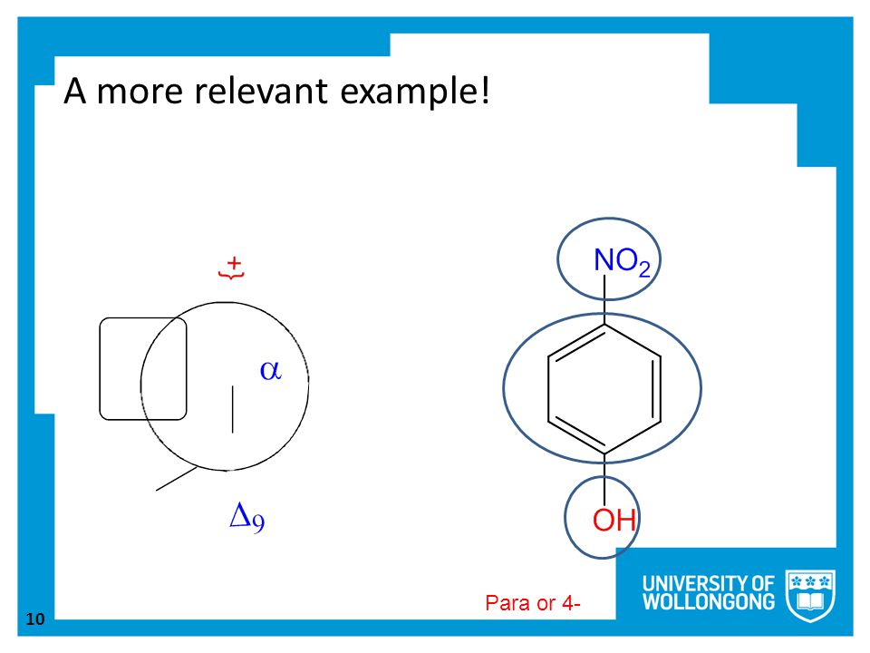 10 A more relevant example! Para or 4-