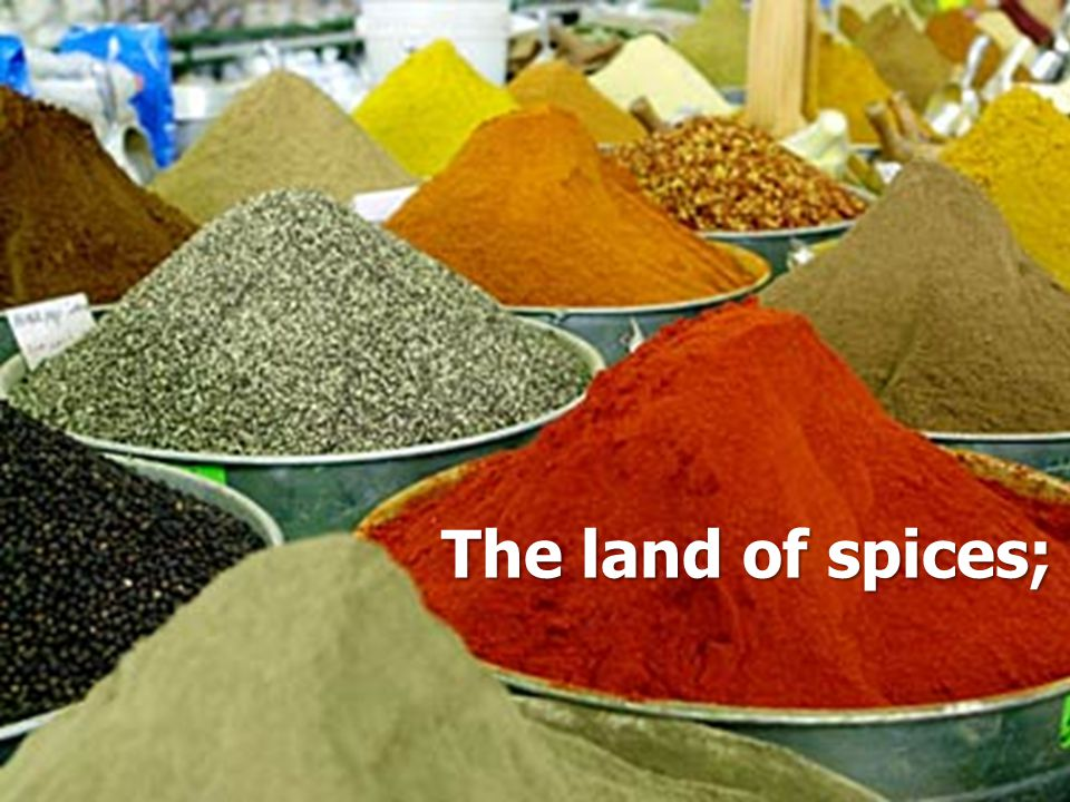 The land of spices;