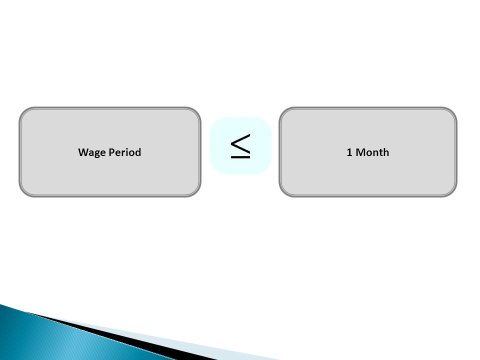 Wage Period1 Month