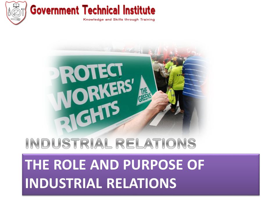 Definition Definition Industrial Relations is concerned with the relations between organized workers, management and state (which is a government institution) as it relates to the workplace.