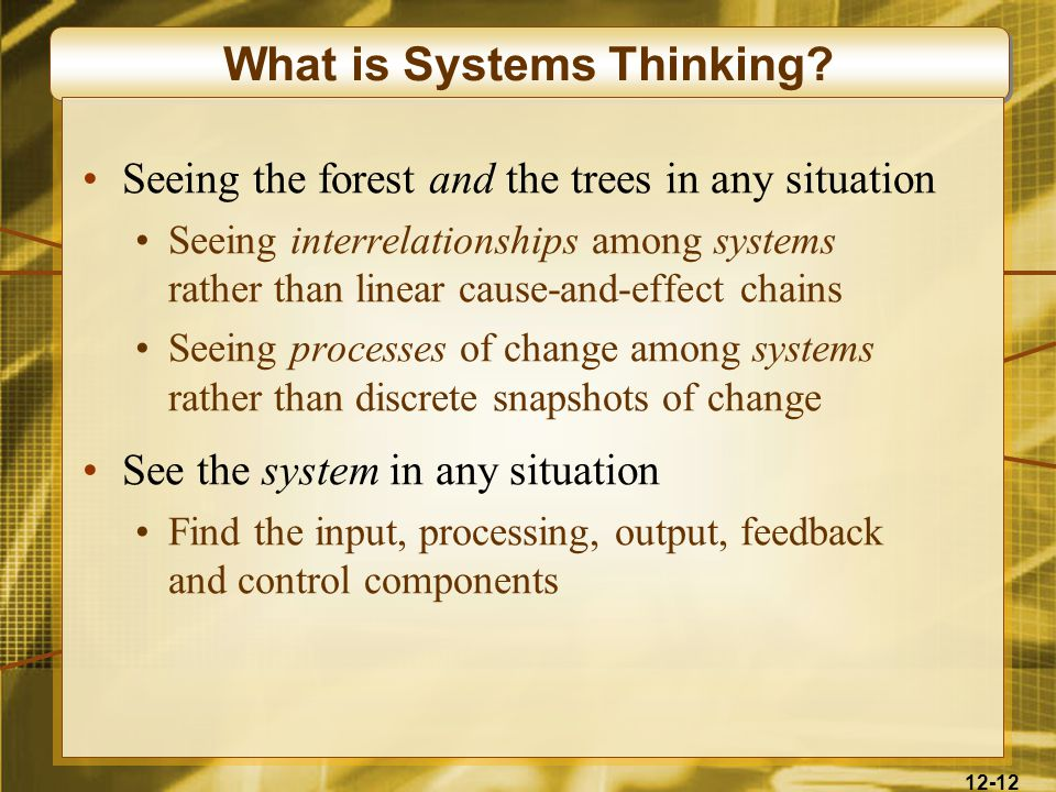 12-12 What is Systems Thinking.