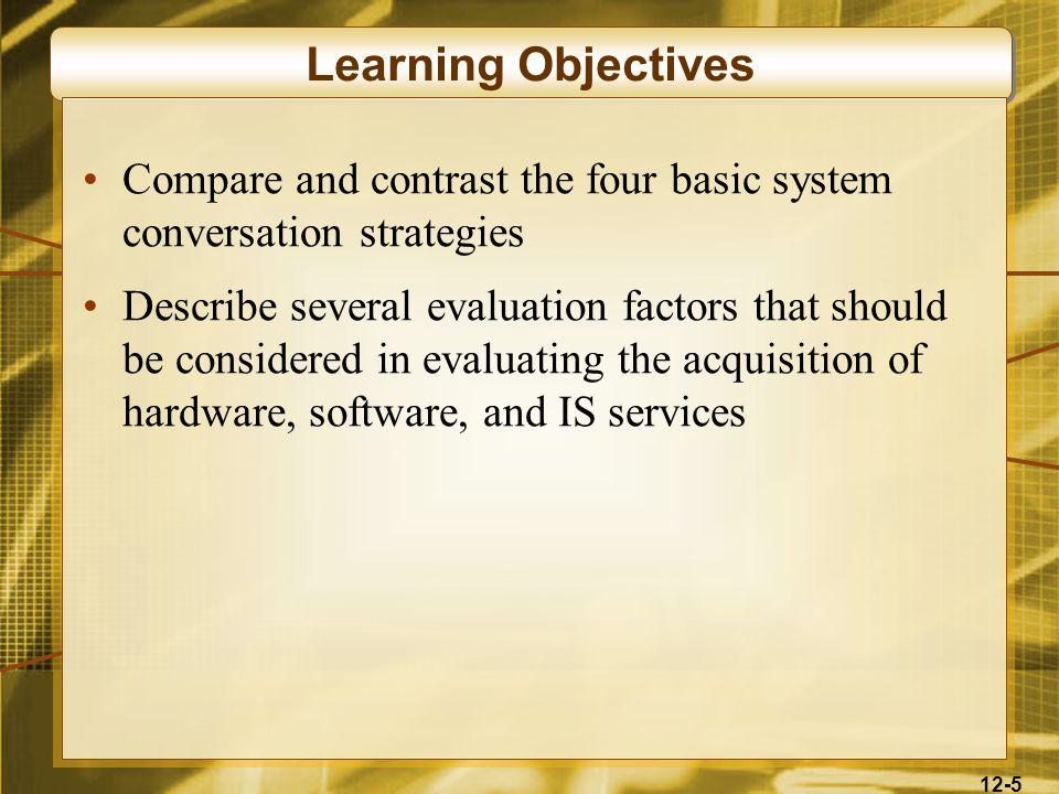 12-66 Major System Conversion Strategies