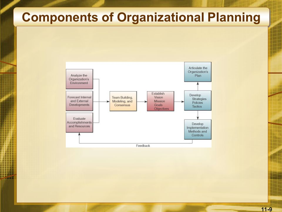 11-9 Components of Organizational Planning