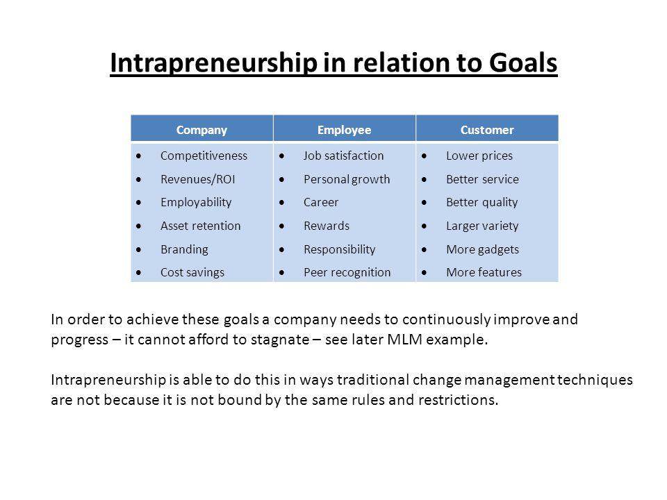 What does Intrapreneurship look like.