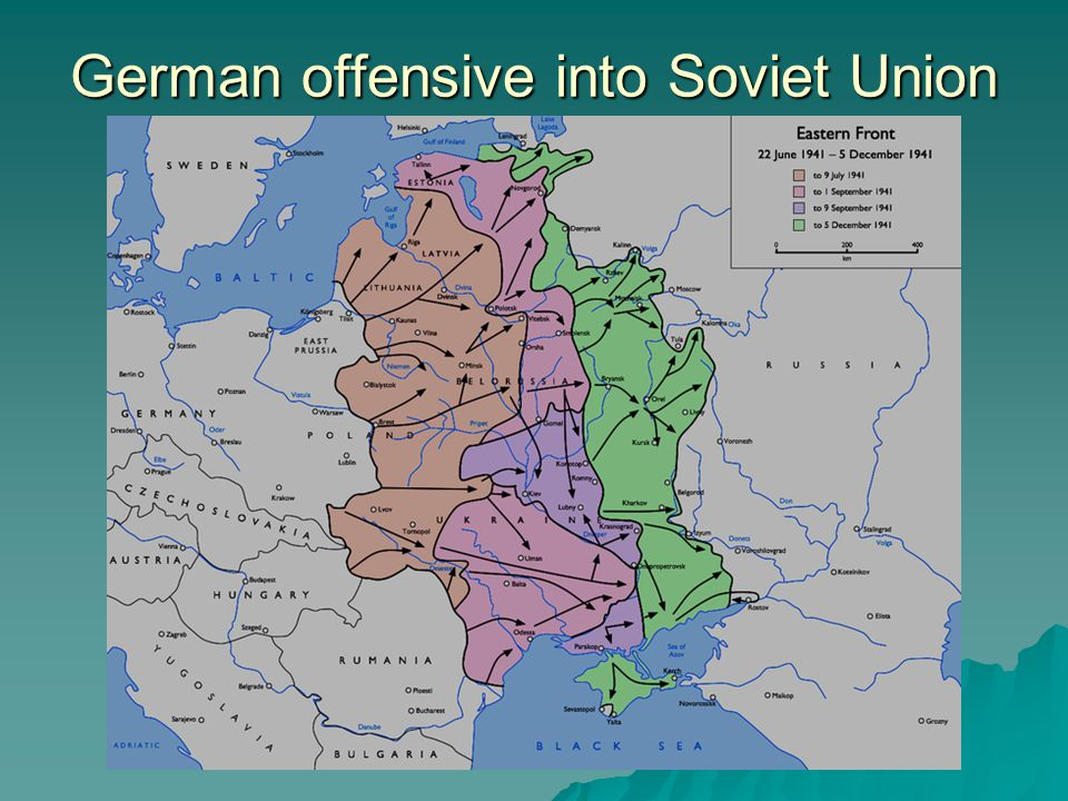 German offensive into Soviet Union