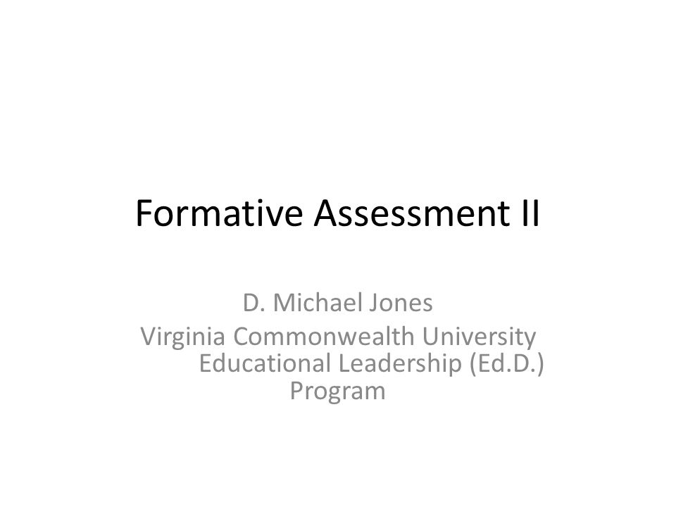 Formative Assessment II D.