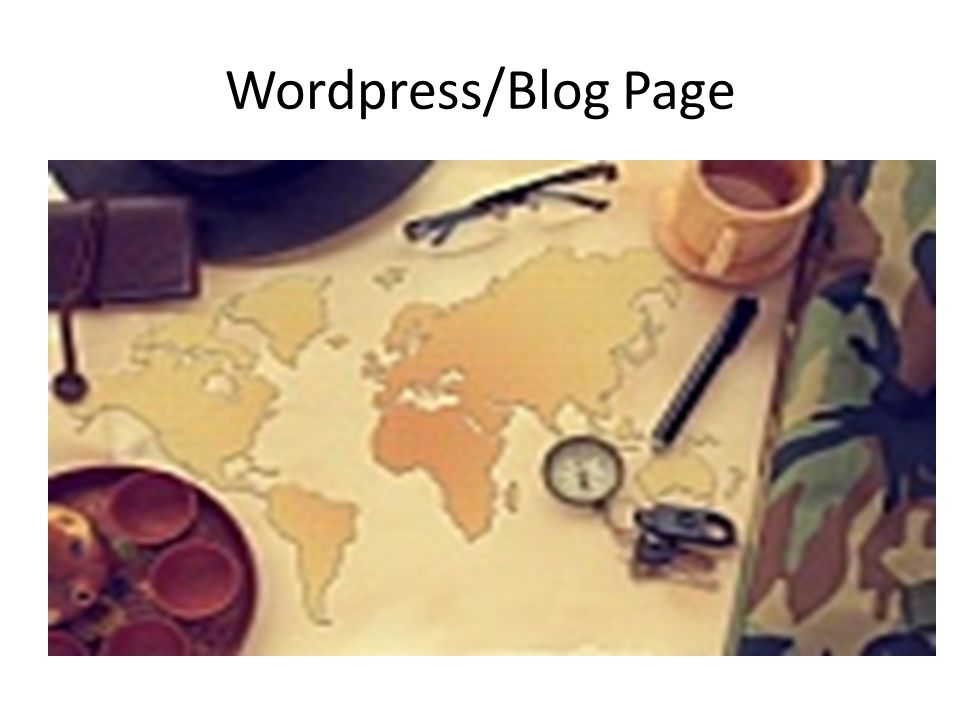 Wordpress/Blog Page