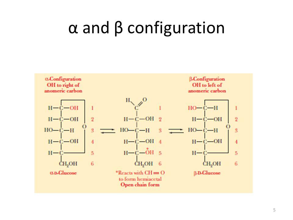 α and β configuration 5