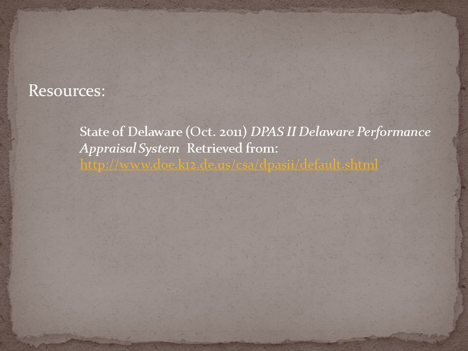 Resources: State of Delaware (Oct.