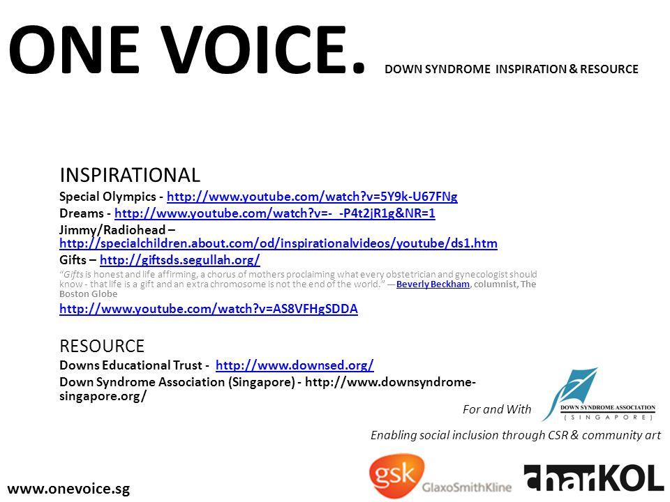 ONE VOICE.