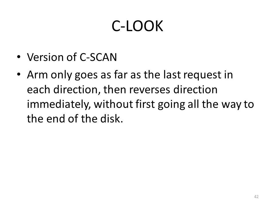 43 C-LOOK (Cont.)