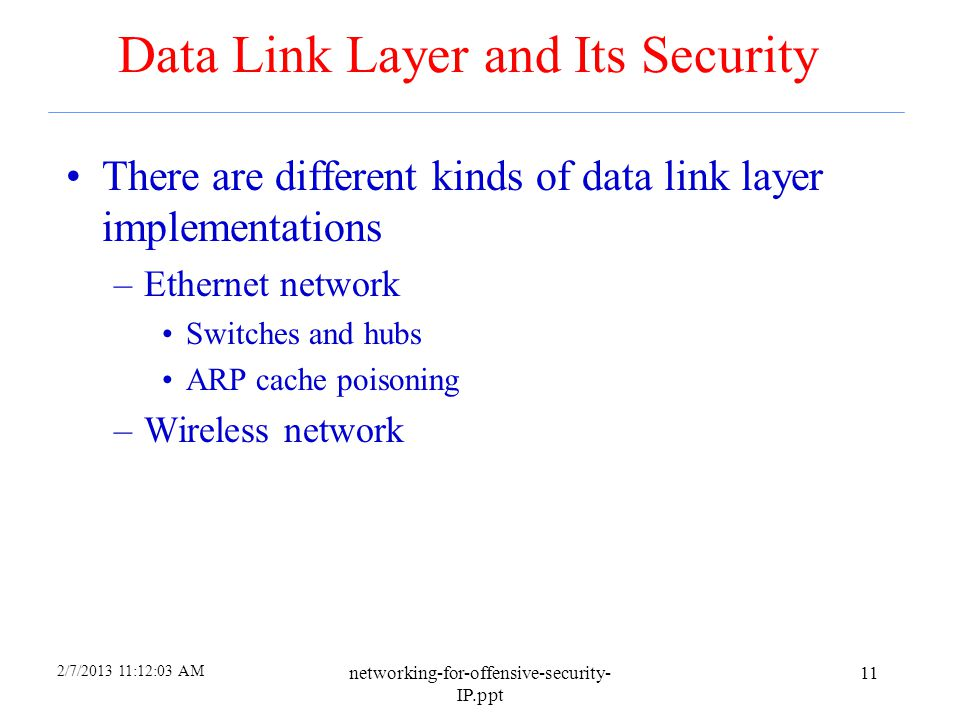 2/7/2013 11:10:00 AM networking-for-offensive-security- IP.ppt 10 RuggedCom and Backdoor Accesses