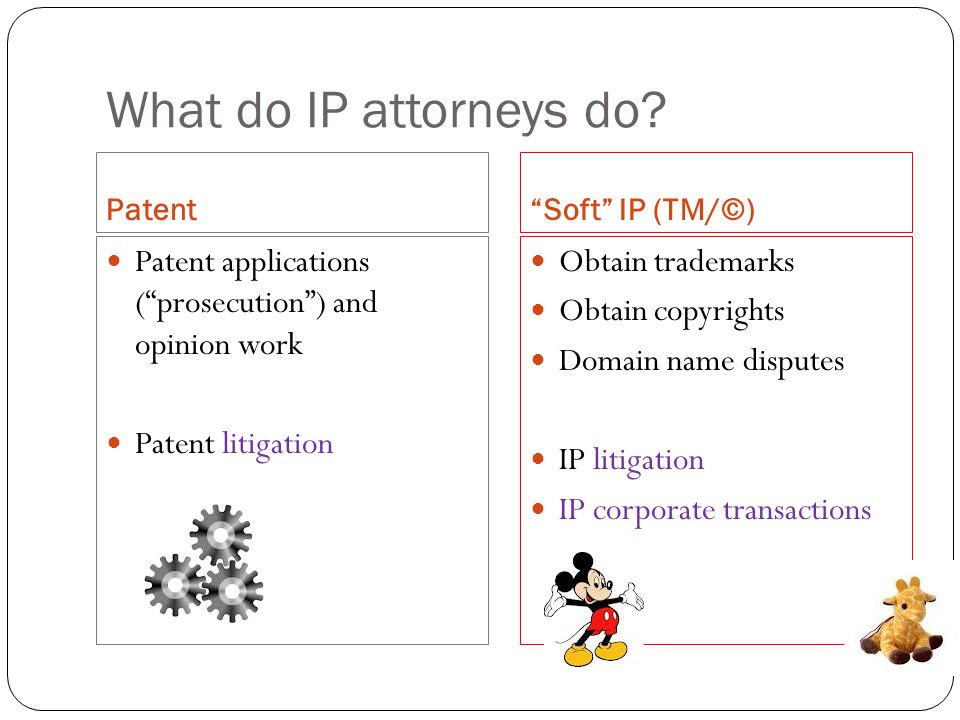 What do IP attorneys do.