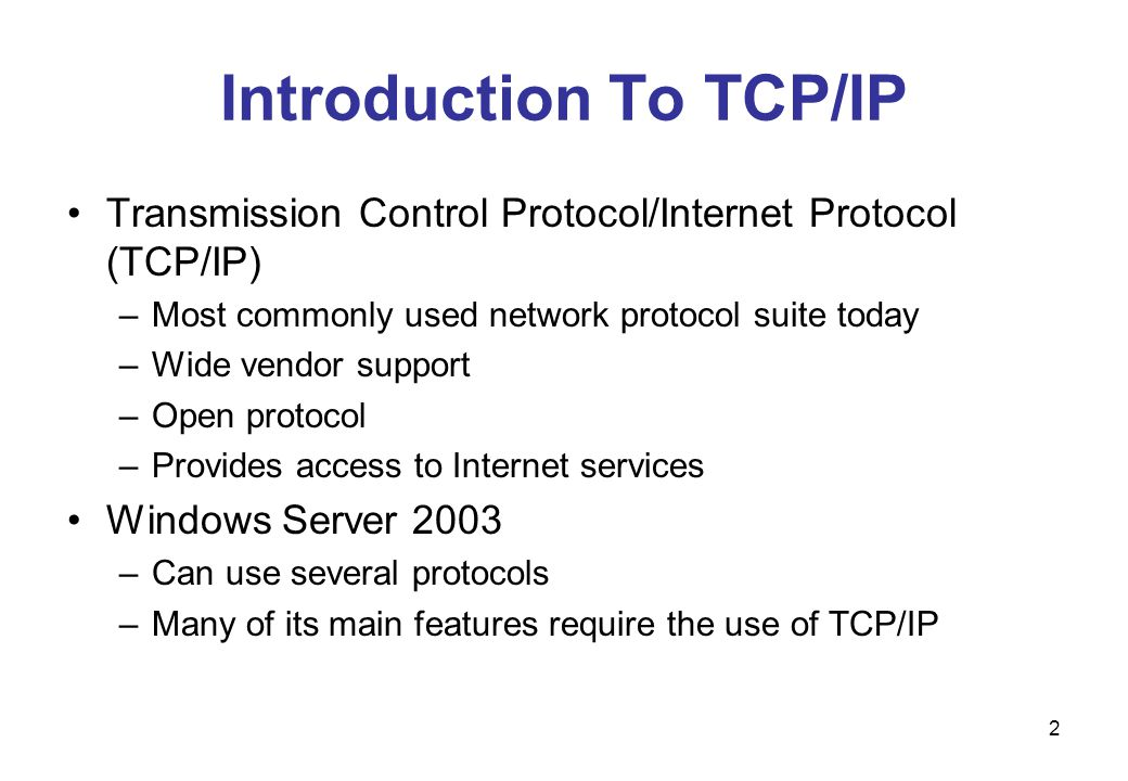 13 TCP/IP Architecture Overview The TCP/IP model can be broken down into four layers: –Application –Transport –Internet –Physical Network Interface Application layer provides access to network resources.