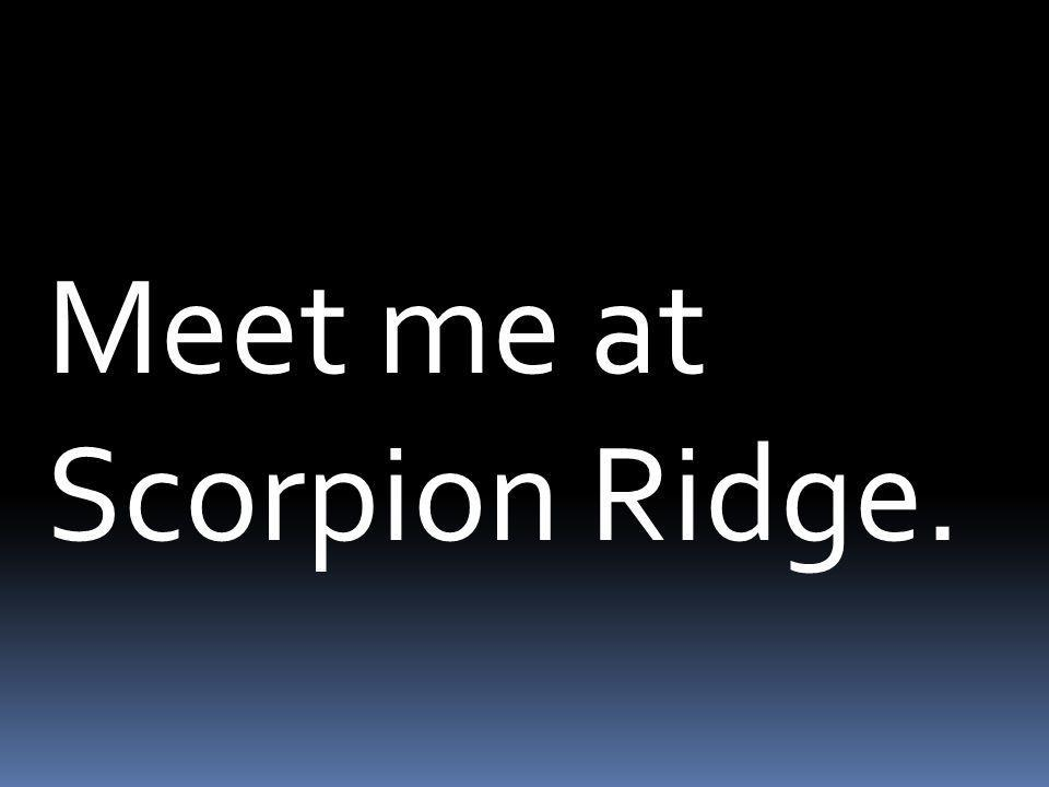 Meet me at Scorpion Ridge.