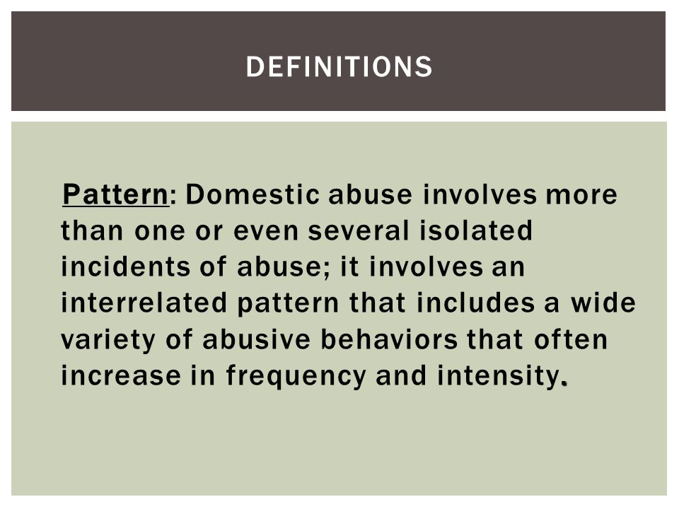 DEFINITIONS – CONT.